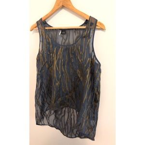 Urban Outfitters Tops - Sparkle and Fade Blue and Green Sheer Tank